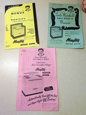 (3) Linda Marshall's Easy-Does-It Menus For Maytag Dutch Oven Weller Appliance