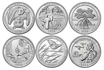 2018 National Park Quarters - Complete 10 Quarter P&D Set - US Mint **IN HAND**
