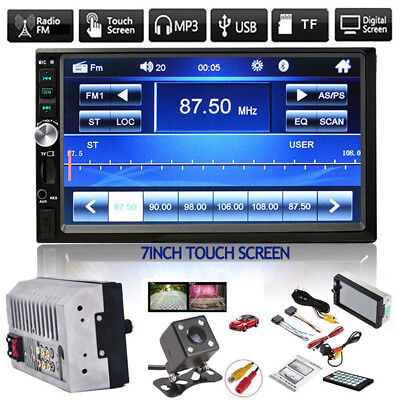 """7"""" DOUBLE 2DIN Car MP5 Player Bluetooth Touch Screen Stereo Radio HD+Camera L Ek"""