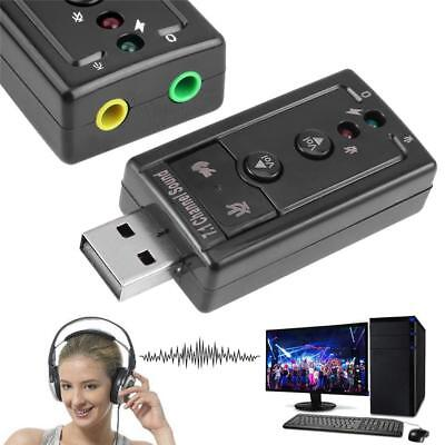 Mini External USB Sound Card 7.1 Channel 3D Audio Adapter Converter 3.5mm MIC-in