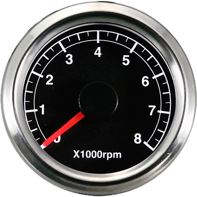 48 mm 0-8000 RPM 8.3 Hz Tachometer Motorcycle Black Face Electrical-A2