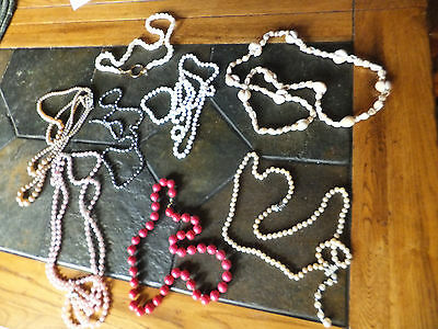 Vintage Assorted Costume Jewelry Necklace Lot of 8