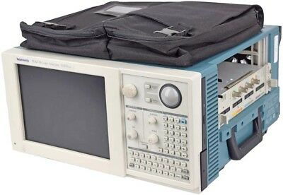 Tektronix TLA 715 Laboratory Dual Monitor Portable Mainframe Logic Analyzer Unit