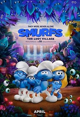 Smurfs The Lost Village - Original DS Movie Poster - Authentic One Sheet 27x40