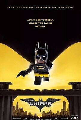 "Lego Batman - Original DS Movie Poster - Authentic ""Advance"" One Sheet 27x40"