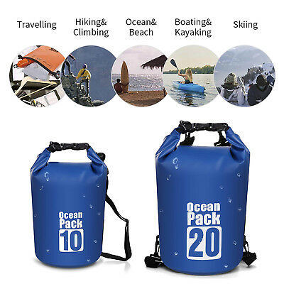 Outdoor Waterproof Canoe Swimming Camping Hiking Large Backpack Dry Bag Pouch US