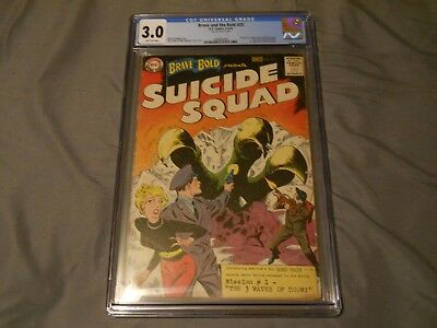 BRAVE AND THE BOLD #25 CGC 3.0 1st APPEARANCE SUICIDE SQUAD 8-9/59 D.C. COMICS