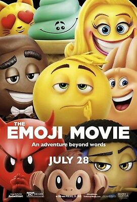 The Emoji Movie - Original DS Movie Poster - Authentic D/S One Sheet 27x40