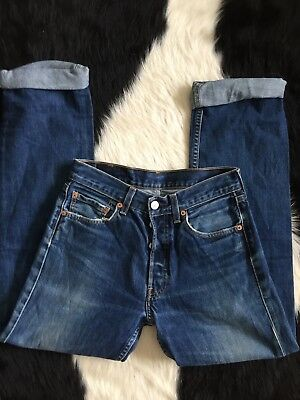 Women's Vintage Darker Washed Out 28 LEVI'S High Waisted Mom Jean
