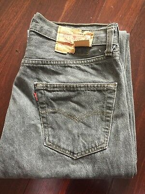 Women's Vintage Grey Washed High Waisted Levi's Jean S/M