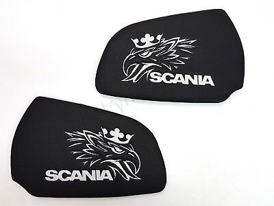 Set Of 2 Pieces  Door Cards Panel For SCANIA R/P/G Series BLACK Eco Leather
