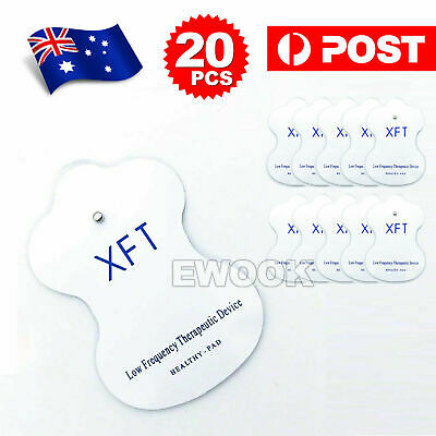 20x Electrode Pads for TENS EMS Machine Massager XFT CIRCULATION BOOSTER Unit