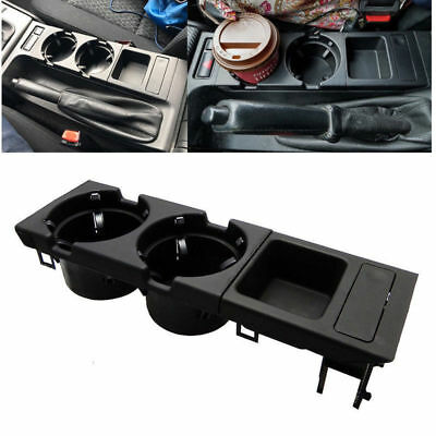 Black Center Console Cup Holder Coin storage tray for BMW E46 323 325 328 330