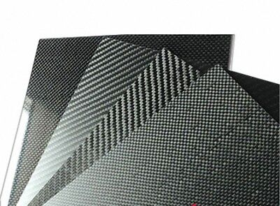 Select Size - 3K Carbon Fiber Plate Panel Sheet  2 Types Weave Matte and Glossy