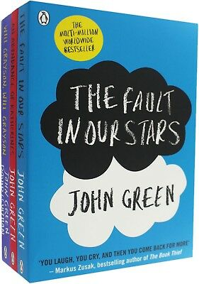 John Green Collection 3 Books Set Fault In Our Stars, Abundance of Katherines