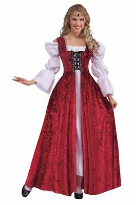 Adult Medieval Princess Lace Up Gothic Gown Ladies Fancy Dress Costume Accessory