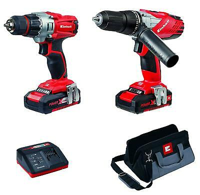 Einhell 4257200 Power X-Change Cordless Combi & Drill Driver Twin Pack 2 Battery