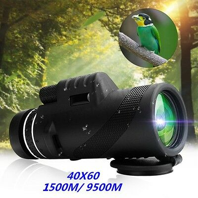 High Power 40X60 Day & Night Vision HD Optical Zoom Monocular Hunting Telescope
