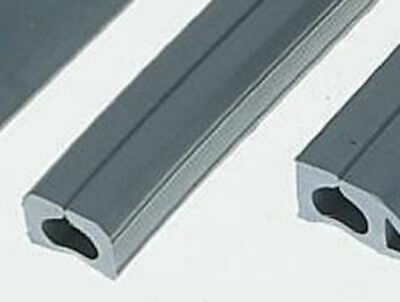 Vulcascot Cable Cover, 8 x 5mm (Inside dia.), 14 mm x 9m, Grey