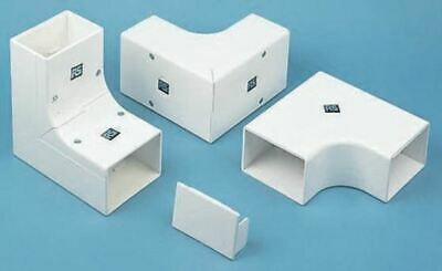 Schneider Electric uPVC 50 x 50mm Cable Trunking Stop End PVC