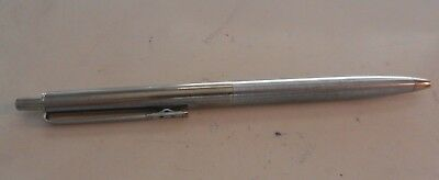 Papermate Ball Point Pen Retro Silver Slim Body Used And Loved