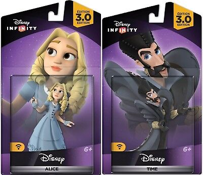 NEW DISNEY INFINITY 3.0 Alice in Wonderland Figures Alice & Time Bundle