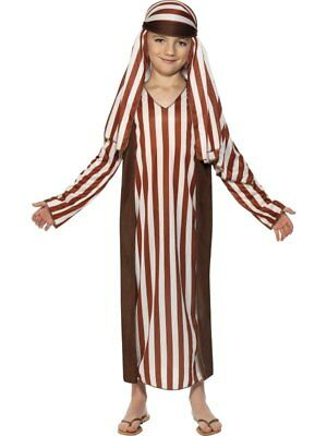 Kids Christmas Nativity Shepherd Childrens Xmas Fancy Dress Costume Child Outfit