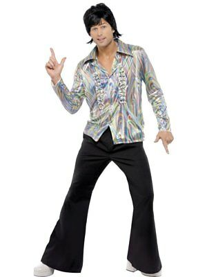 NEW! Adult 60s / 70s Retro Groovy Disco Mens 1970s Fancy Dress Costume Outfit