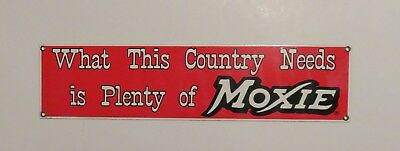 Vintage Ande Rooney Moxie Soda Porcelain Advertising Sign (NOS)