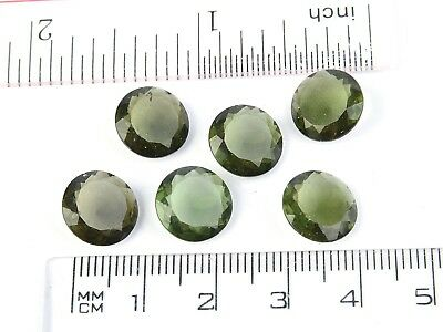 0.55-0.57g round 11mm STANDARD CUT moldavite faceted cutted gem BRUS1809