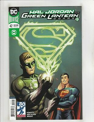 Hal Jordan and the Green Lantern Corps #42 NM- 9.2 Superman Variant DC Comics