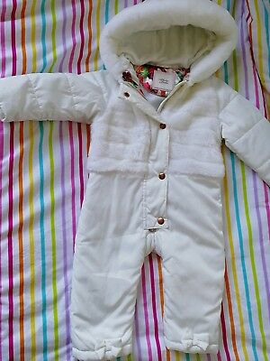 f0801c145 TED BAKER- BABY girl s floral snowsuit Size 12-18 months - £11.99 ...