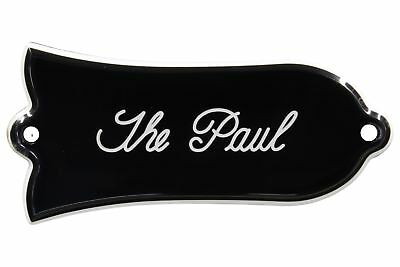 """Engraved """"The Paul"""" Truss Rod Cover for Gibson Guitars 2ply B/W"""