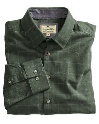 d42a1ca0 Hoggs of Fife Moray Check Shirt Olive Green Men's Country Hunting Shooting