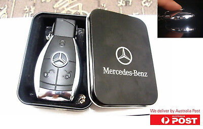 Mercedes Car Key Style Windproof Lighter&Torch Gas Butane Lighter KeyChain LED