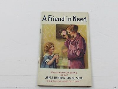 1933 ARM & HAMMER BAKING SODA : A Friend in Need : Advertising Booklet