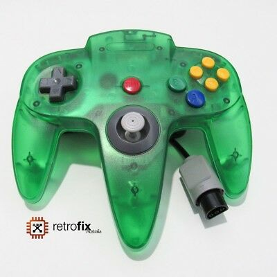 Nintendo 64 / N64 Controller - Clear Jungle Green - Professional Aftermarket