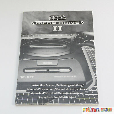 Sega Megadrive II 2 Console - Instruction Manual - VGC - Sega Megadrive PAL