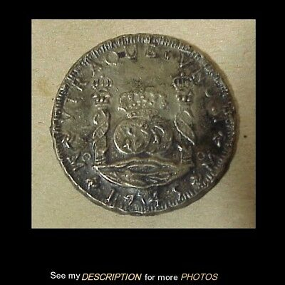 Scarce 1745 Spanish 8 Reales Silver Coin