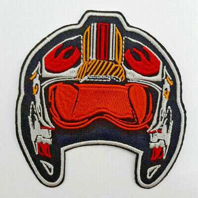 "Star Wars Rebel Pilot Helmet 3.5"" Embroidered Patch- USA Mailed (SWPA-FC-32)"