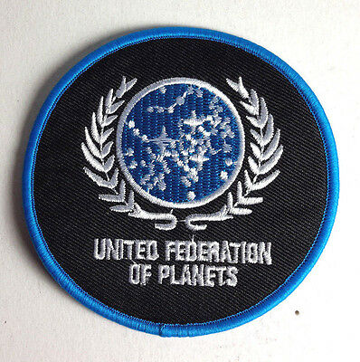Star Trek Ufp United Federation Planeten 8.9cm Patch Lincoln Usa Mailed