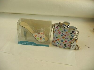 Wild Eye Stainless Steel flask and matching high heeled shoe opener