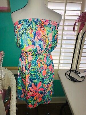 f34496d60f Lilly Pulitzer NWT Windsor Strapless Pull-On Dress Bennet Blue Surf Gypsea  $98