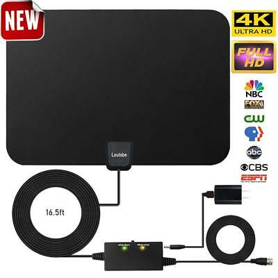 Amplified HD Digital TV Antenna,Skywire TV Antenna 80 Miles Range, Support 4K 10