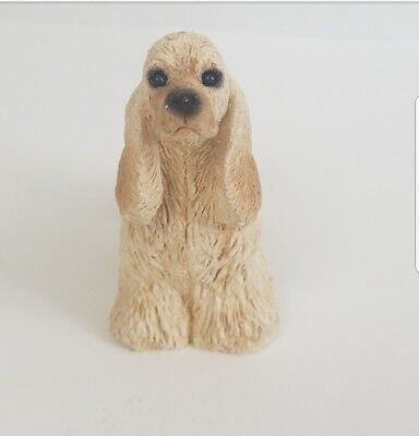 Stone Critters Standing Blonde Cocker Spaniel SC 311 Made In USA Vintage