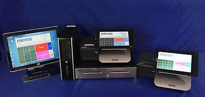 MICROS COMPACT M-TABLET PKG.  2 TERMINALS, E7 v4.2, CREDIT CARD READY,  WARRANTY