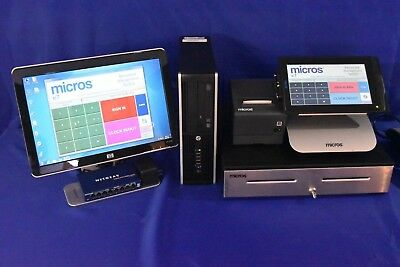 MICROS COMPACT M-TABLET.  1 TERMINAL & SERVER v4.2, CREDIT CARD READY,  WARRANTY