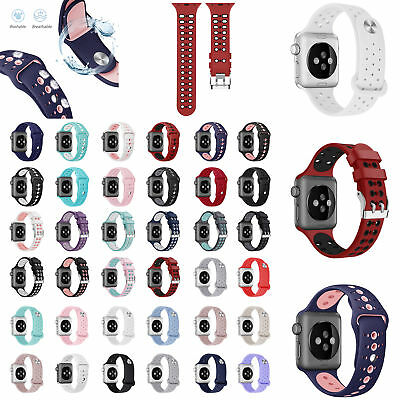 Silicone Sport Band Strap Bracelet For Apple Watch Series 4/3/2/1 iWatch 38 42mm