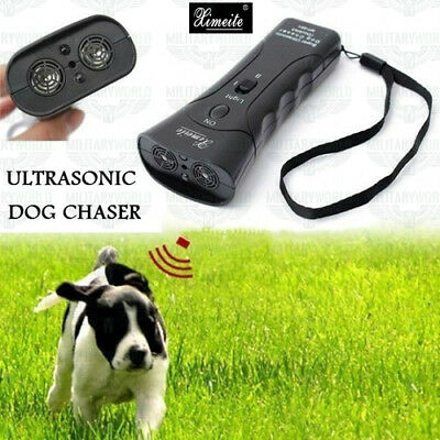 Super Ultrasonic Dog Chaser 4 in 1 repellente per cani aggressivi ad ultrasuoni