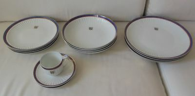 Set plates from the Presidential Palace of Republic of Zaire, President Mobutu